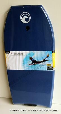 "Crane Pro Bodyboard 41"" 104 Cms +  Pro Leash Blue Beach Surf Body Board Boogie"
