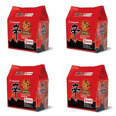 4x Nongshim Shin Ramyun Spicy Mushroom Instant Noodle Soup Nong Shim Mie 5x120g