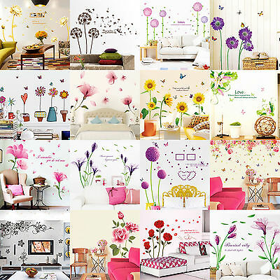 Family Flower Tree DIY Removable Art Vinyl Wall Sticker Decal Mural Home Decor H