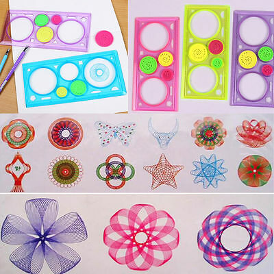 New Spirograph Geometric Ruler Stencil Spiral Art Classic Kids Toy Stationery