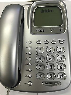 Uniden FP204 BIG LCD Corded Phone Handsfree BIG Buttons Telephone