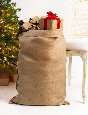 PLAIN HESSIAN SACK 50 x 80 cm FOR PERSONALISED CUSTOM CHRISTMAS SANTA STOCKING