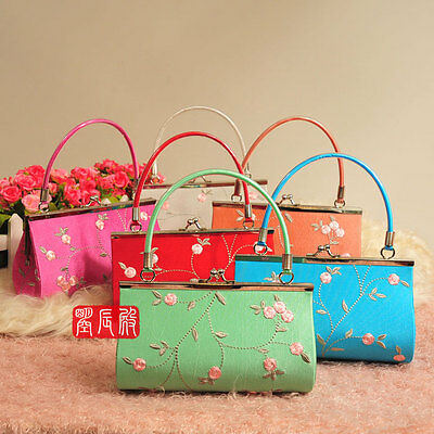 Wholesale6pcs Chinese Handmade Embroider Handbag /Wallet Evening /Pueses