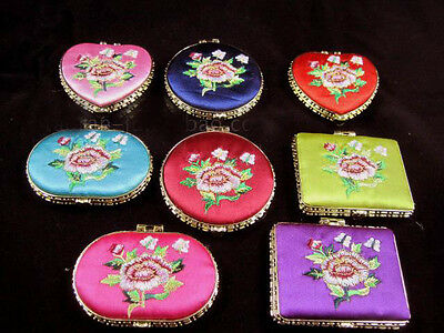 Wholesale50pcs Chinese Classic Handmade Embroider Silk Mirrors