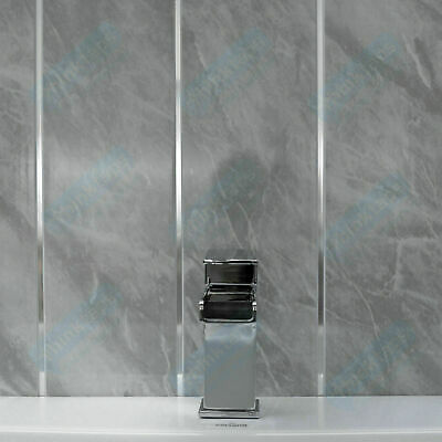 Grey Marble & Chrome Bathroom Panels Kitchen Ceiling Cladding PVC Shower Wall