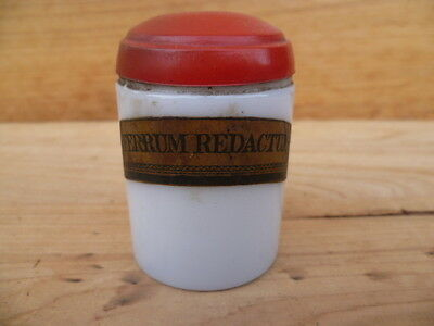Vintage Old Apothecary, Medical Bottle Jar With Label, (B449)