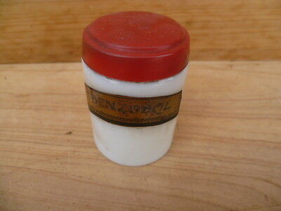 Vintage Old Apothecary, Medical Bottle Jar With Label, (B459)