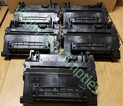 10 Virgin Genuine Empty HP 81A Laser Toner Cartridges FREE SHIPPING CF281A