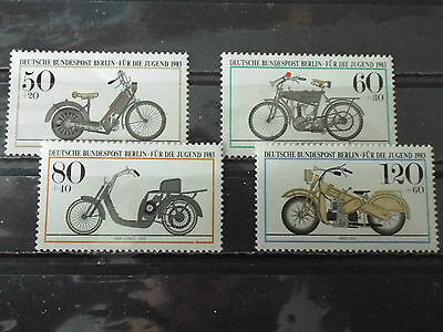 Série 4 timbres neuf All. BERLIN 1983 : Motocyclettes historiques