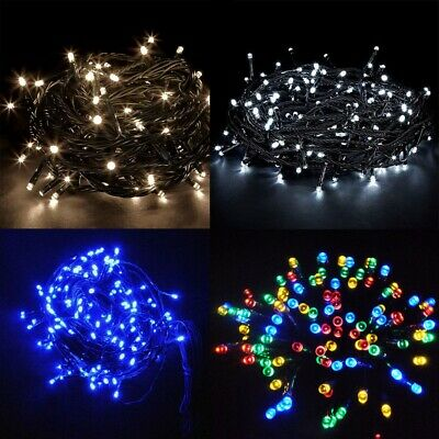 SAFE Voltage Christmas Fairy Lights 50M+5M 500 LED Outdoor Warm/Cool/Blue/Multi