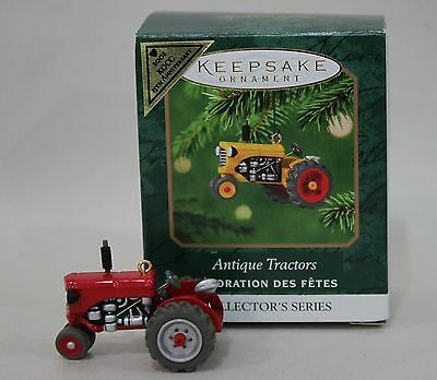 Colorway Red Antique Tractors KOCC Anniversary Hallmark Mini Ornament Repaint