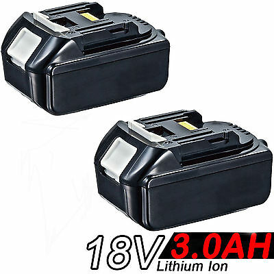 2x 3.0AH 18V Battery For Makita BL1830 BL1815 LXT Lithium Ion Cordless