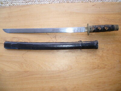VINTAGE OLD JAPANESE REPRO SWORD & SCABBARD '550mm' (B488)