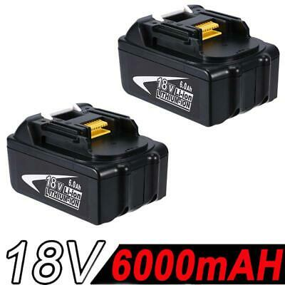 2x 6.0AH 18V Battery For Makita BL1860 BL1845 BL1840 BL1830 BL1815 Lithium Ion