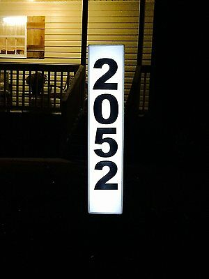 Solar Lighted Address Plaque - Address Sign For Your Home - Allow Emergency , to