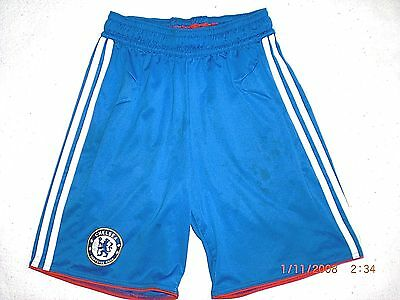 Chelsea FC Football Club Soccer Adidas Shorts *Youth Size Small* Used Conditions