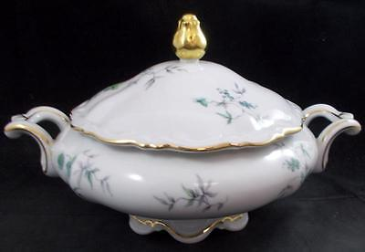 Mitterteich GREEN MING (GOLD) Round Covered Vegetable Bowl 9901 GREAT CONDITION