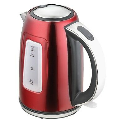1.7L Litre Cordless Electric Kettle Fast Boil Jug Washable Filter 2200w RED -P