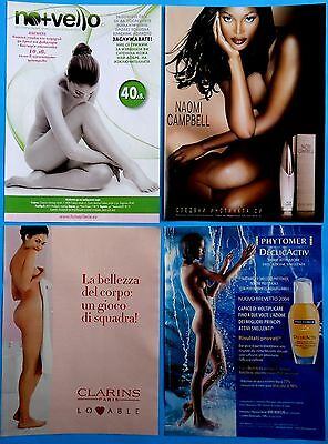 Naked Woman nude ad print clippings 32  pages