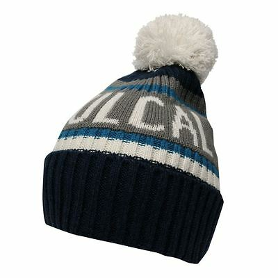 53cddea0f3d Mens Soulcal Navy Grey Blue White Woolly Wool Knit Knitted Ski Skiing  Bobble Hat