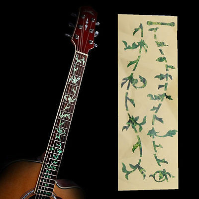 New Green Beautiful Acoustic Electric Guitar Fretboard Marker Decal Stickers
