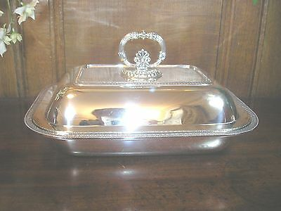 VINTAGE Italian HALLMARKED SOLID SILVER ENTREE DISH - stunning condition