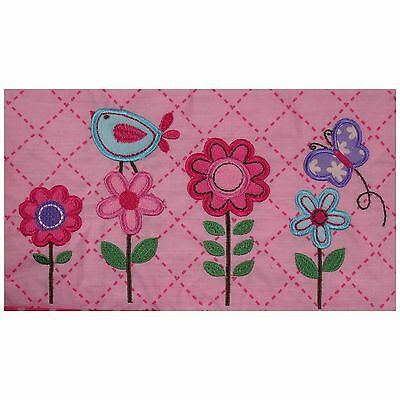 Garanimals Hearts At Home Nappy Diaper Stacker Girl Pink Flowers Butterfly Bird
