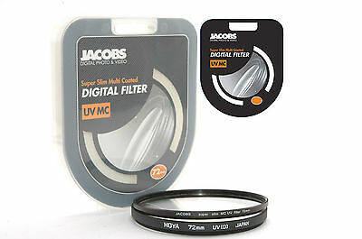 Jacobs Super slim UV Multi Coated MC filter 72mm for nikon canon sony        NEW