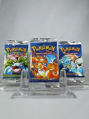 *RARE* 1 Pokemon UK 1999-2000 Base Set Booster Pack Sealed Charizard NOT WEIGHED