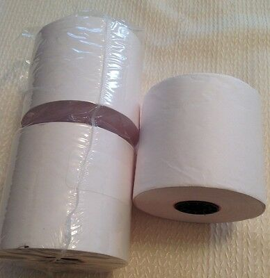 "Genuine Office Depot (3) 1 Ply 2.25"" X 130' White Paper Rolls *New damaged pack*"