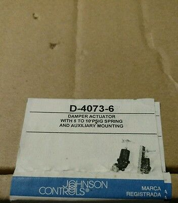 Johnson Controls DAMPER ACTUATOR  D-4073-6 NEW