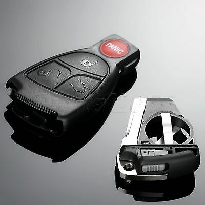 Smart Car Remote Key Shell Case With Battery Clip Key Insert For Mercedes-Benz