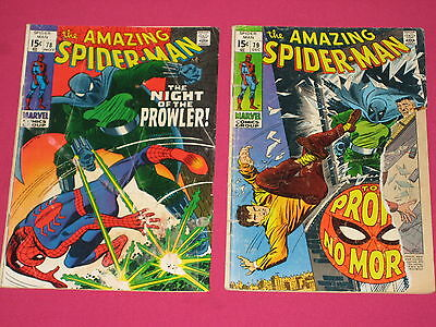 Amazing Spider-Man #78, 79 - 2 Book Lot Marvel Comics 1965 1st & 2nd Prowler