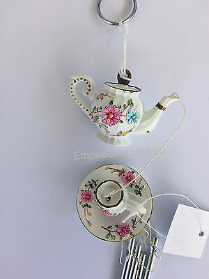 Wind Chime Teapot windchime Home Garden Decor Gift - Hanging Ornament - NEW