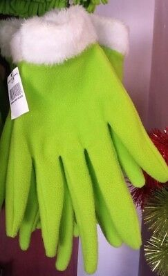 Dr Seuss The Grinch Costume Green Hands Fingers Gloves Universal Studios