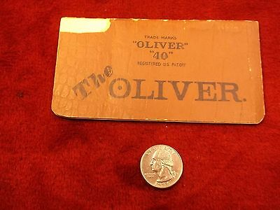 "RARE VERY OLD VTG ANTIQUE 1900's ERA ADVERTISING NOTEBOOK ""THE OLIVER 40"" C PICS"