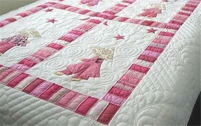 New Lilypond Designs Hand Stitched baby Cot Quilt 100 x 120cm RRP$165 FREE POST