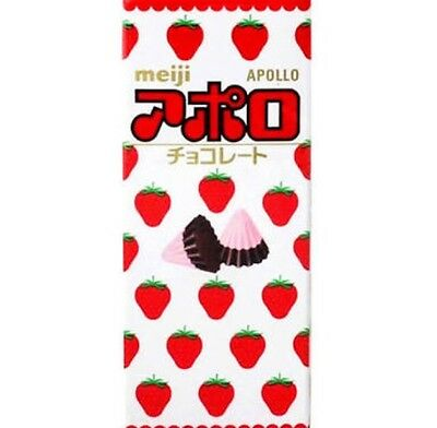 Japanese Chocolate Snack Meiji Apollo Strawberry Chocolate Candy
