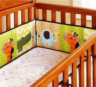 4pc Baby Cot Bumpers Set - Animals