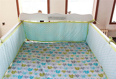 4pc Baby Cot Bumpers Set - Elephant