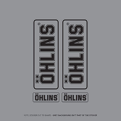 SKU2405 - Set Of 4 Ohlins Stickers - Decals - Motorcycling - Black On Clear