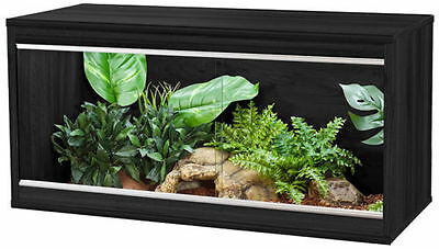 Vivexotic Repti-Home Vivarium Small 57.5x37.5x42cm Black Walnut Beech Oak Colour