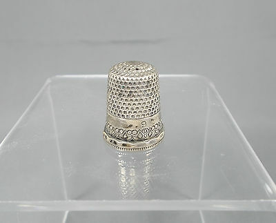Antique Sewing Thimble Sterling Silver..Mark: MKA..