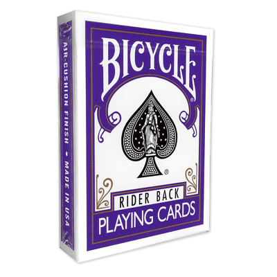 DISCONTINUED Purple Backed Genuine Bicycle Playing Cards  / Deck  + 2 Gaff cards
