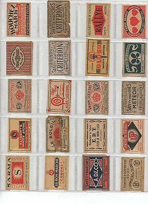 Assorted Ww – 20 Old Matchbox Labels #3