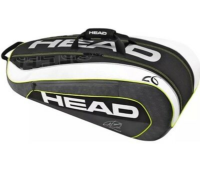 HEAD Porta Racchette DJOKOVIC SUPERCOMBI : Borsone Nuovo da Tennis 9 R List €130