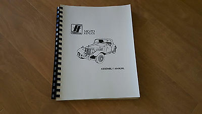 simca aronde p60 owners maintenence book 1958 1st addition 1979 migi assembly manual from fiberfab vw based 1952 mg td replica kit