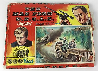 The Man From Uncle Rare 1960's Jigsaw Puzzle, The Getaway, Boxed, British