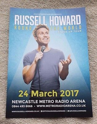 RUSSELL HOWARD UK Tour/Concert Flyer Round the World 2017 TV Comedy Newcastle