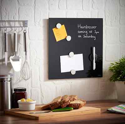 Magnetic Notice Board with Pen and Magnets Black Colour Modern Kitchen